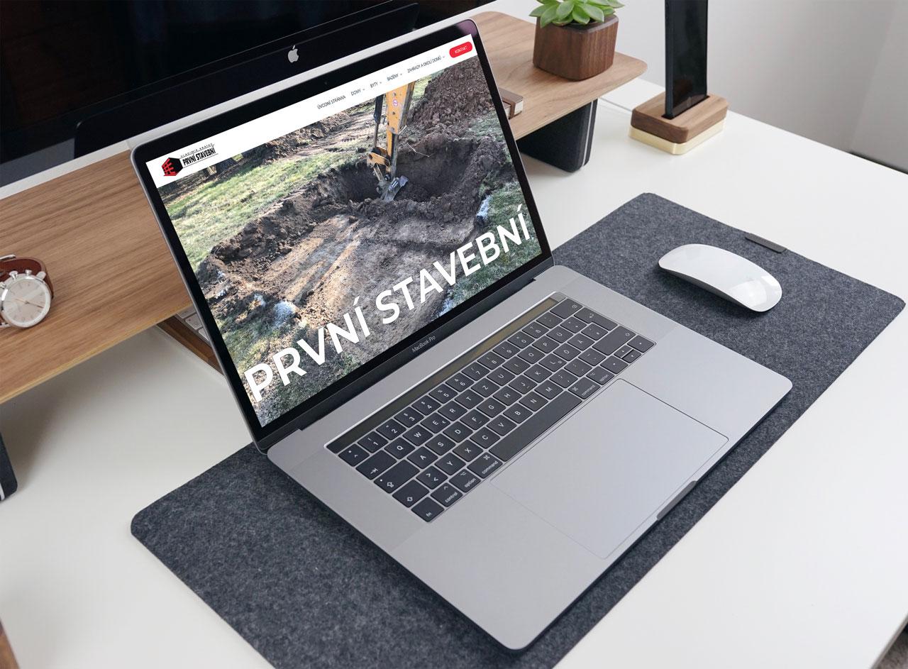 Redesign a návrh webových stránek pro stavební firmu z Dobříše